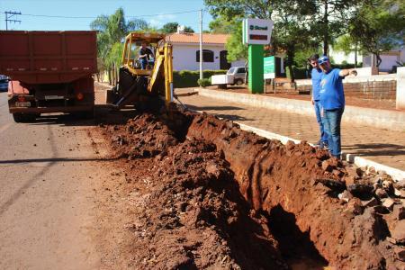 Obras na rua Brasilina Terra